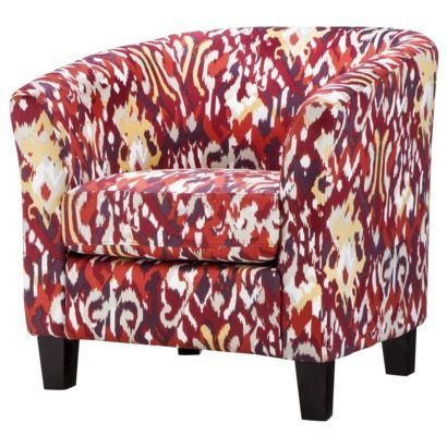 Clearance $125 Portland Tub Chair - Red Ikat | warm and cozy living ...
