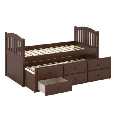 CorLiving™ Heritage Place Brown Espresso Stained Solid Wood Single ...