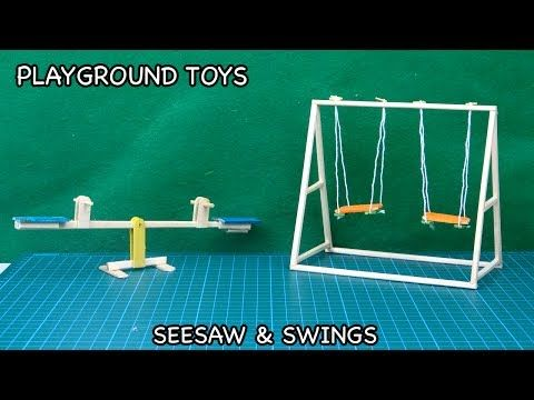 Diy Playground Toys Seesaw Amp Swing Popsicle Stick