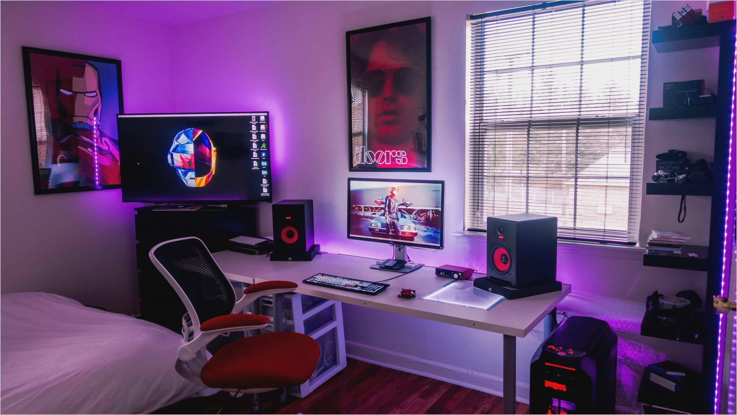 pc gaming bedroom decor in 2020  small game rooms