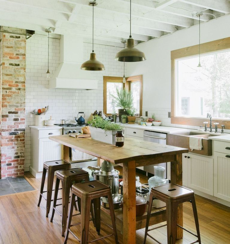 100 Stunning Farmhouse Kitchen Ideas On A Budget (89