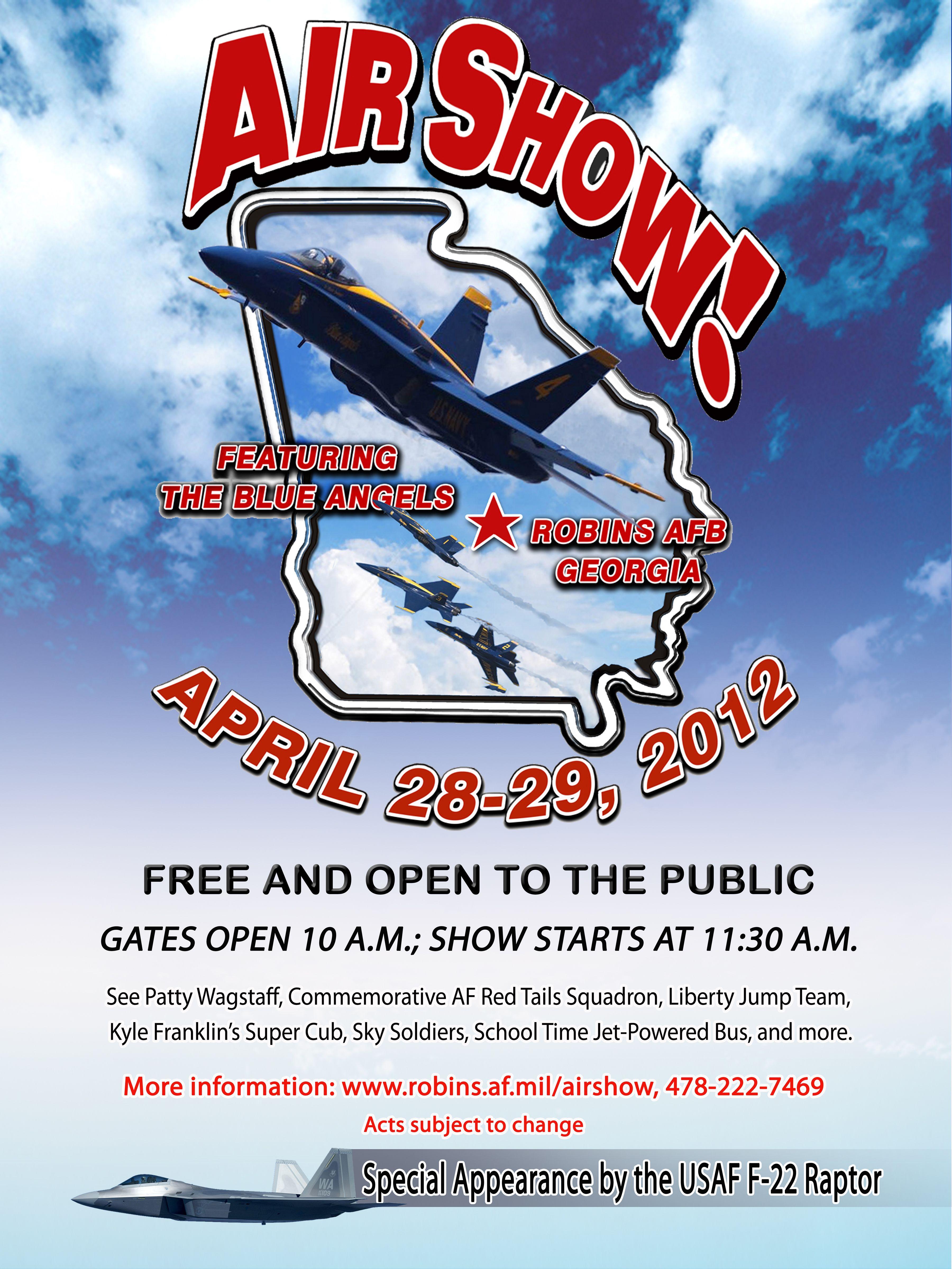 go enjoy The Robins Air Show 2012, featuring the Blue