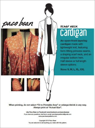 kostenloses #Schnittmuster für einen #Cardigan mit Schalkragen ...