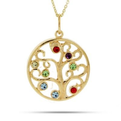 Pin On Family Tree Birthstone Necklace