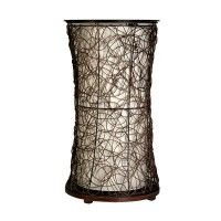 StyleCraft Home Collection SF1893DS Natural Wood Rattan Table Lamp