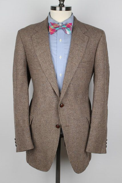 Light Brown Men's Sport Coat with Brown Leather Buttons ZnGAKQ