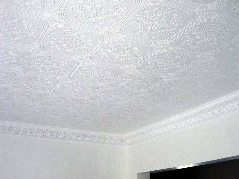 Fancy Ceiling Paper To Cover The Asbestos Popcorn Ceiling Ceiling Paper Wallpaper Ceiling Popcorn Ceiling