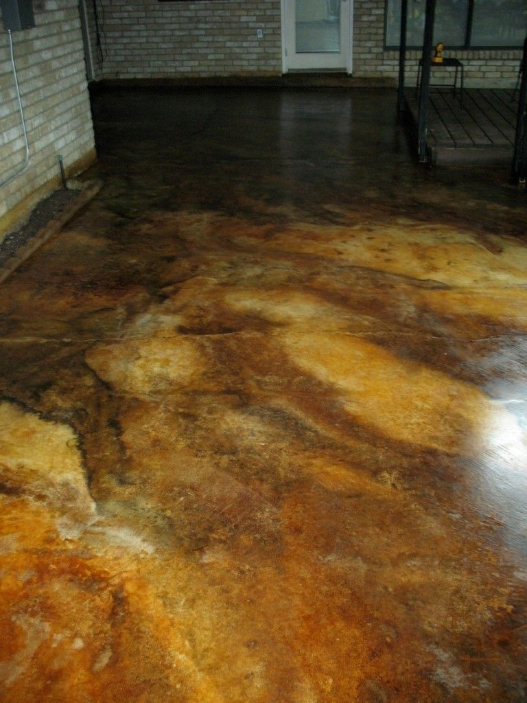 Stained Concrete Kitchen Floor Stained Concrete Floors Kitchen Using A Black Pigmented Base