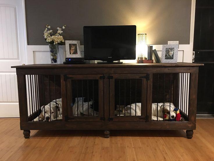 Pin By Aleesha B On Pet Crate Dog Crate Furniture Diy