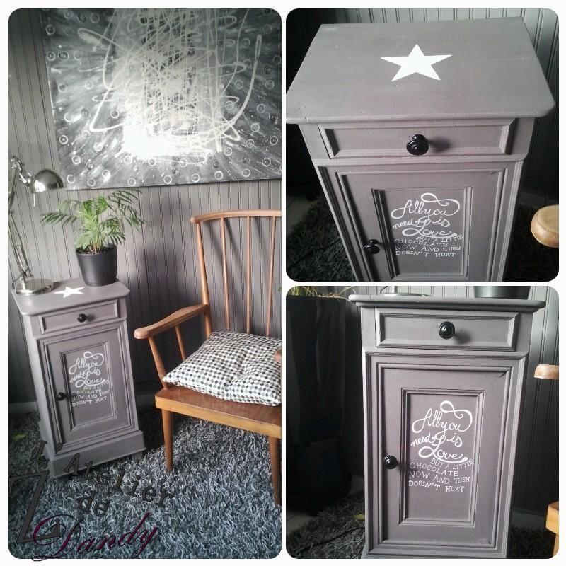 dcouvrez comment jai donn une seconde vie une vieille table de chevet en bois - Table De Chevet Leroy Merlin