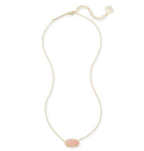Kendra Scott Elisa Pendant Necklace In Light Pink Drusy Fashion Jewelry Jewelry Kendra Scott Jewelry