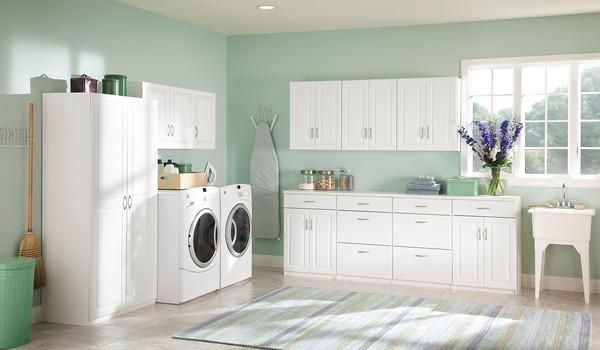 Add Closetmaid To Your Laundry Room And You Ll Create Loads Of Storage Laundry Room Laundry Room Organization Small Laundry Rooms