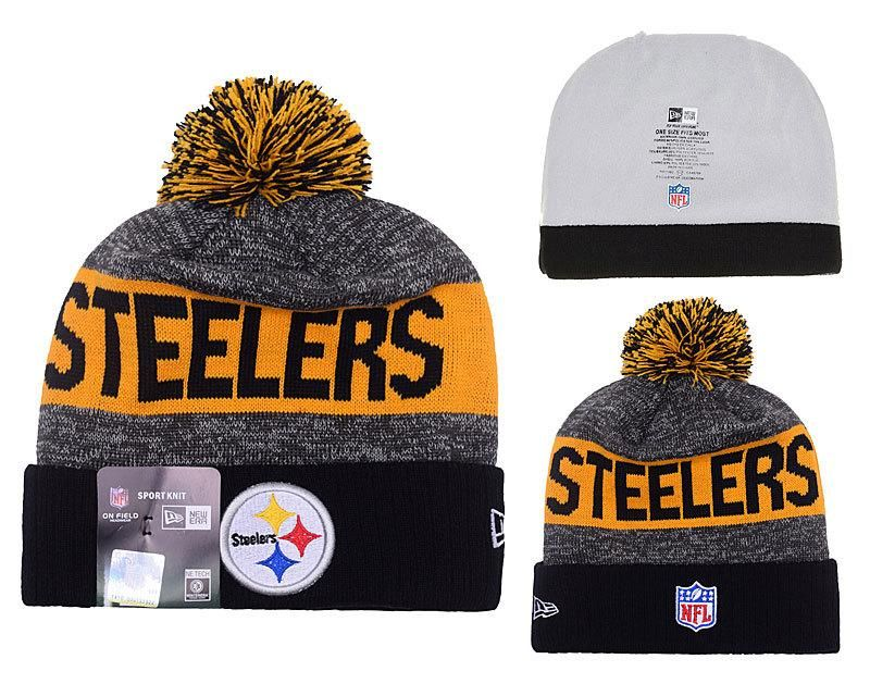 e73448662 Men s   Women s Pittsburgh Steelers New Era 2016 NFL Sideline Sport Knit  Pom Pom…