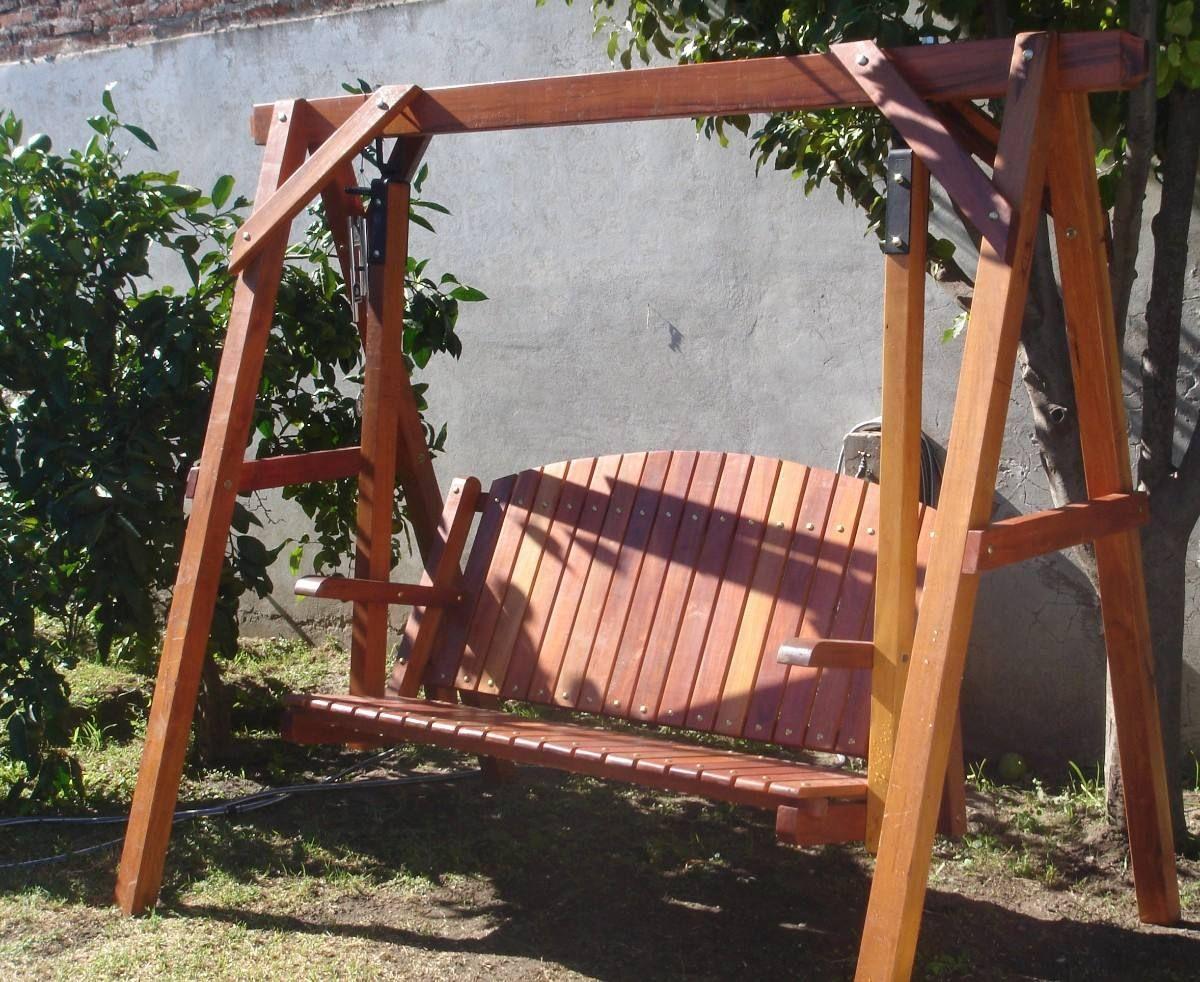 como hacer un columpio de madera para jardin - Buscar con Google ...