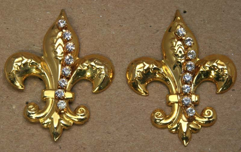 Fleur De Lis Earrings Gold