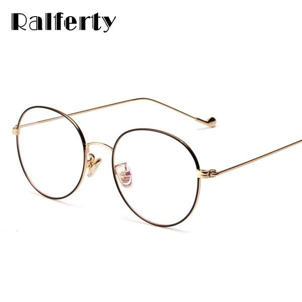 Ralferty Vintage Round Glasses Frames Women Eyewear Eyeglasses Frame ...