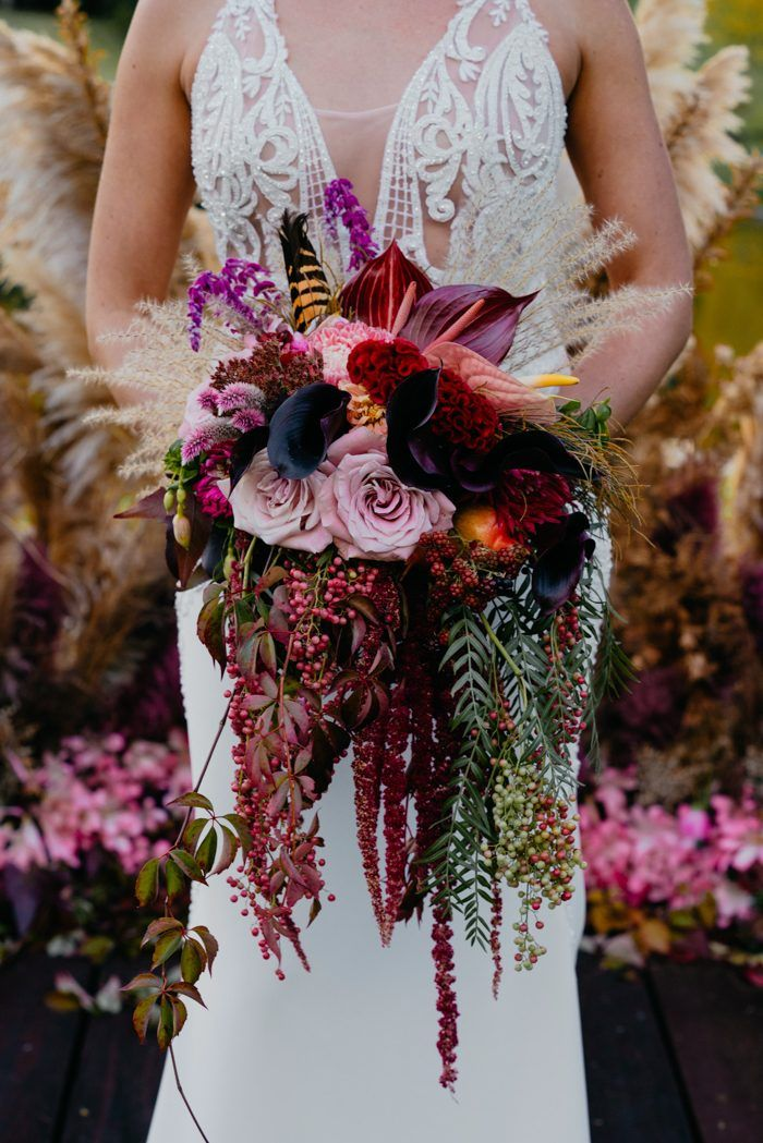 Get Inspired By The Floral Explosion in This Harvest Themed Wedding Wedding at Fonty's Pool in Western Australia #autumnseason