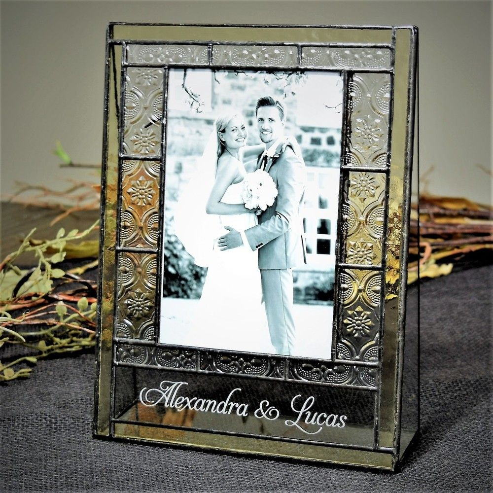 Personalized Gifts-J Devlin Glass Photo Frame-Wedding-Engraved 4x6 ...