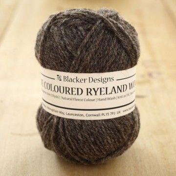 Pure Coloured Ryeland Aran knitting yarn - Ryeland sheep are so wonderfully round and blobby-looking - I want a jumper made out of one!