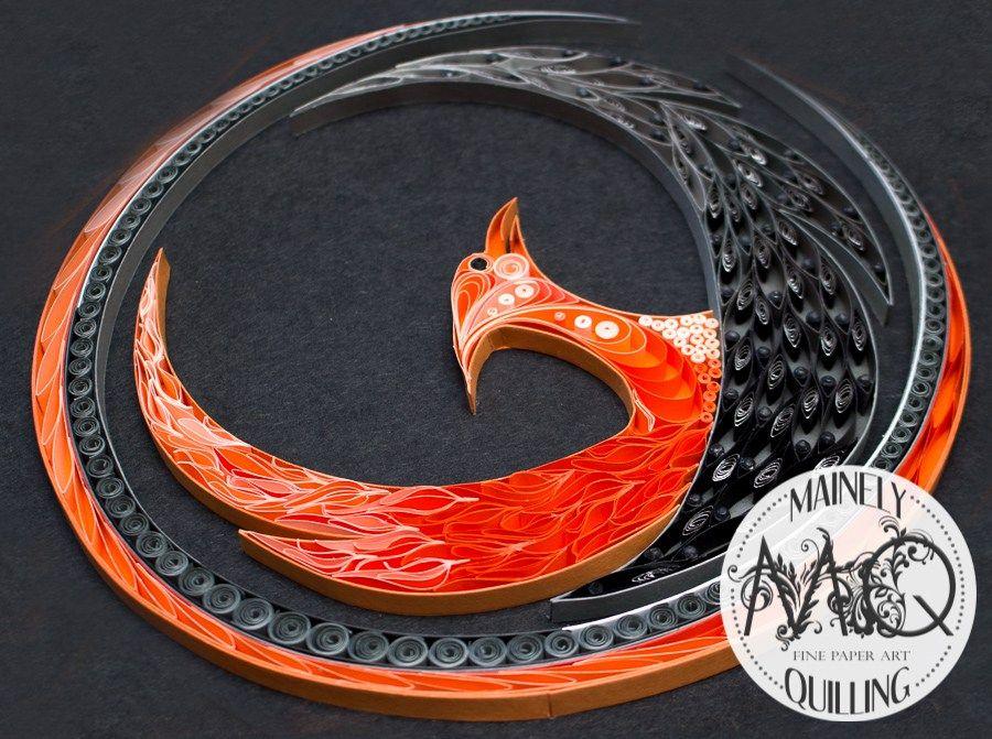 Quilled Phoenix Logo