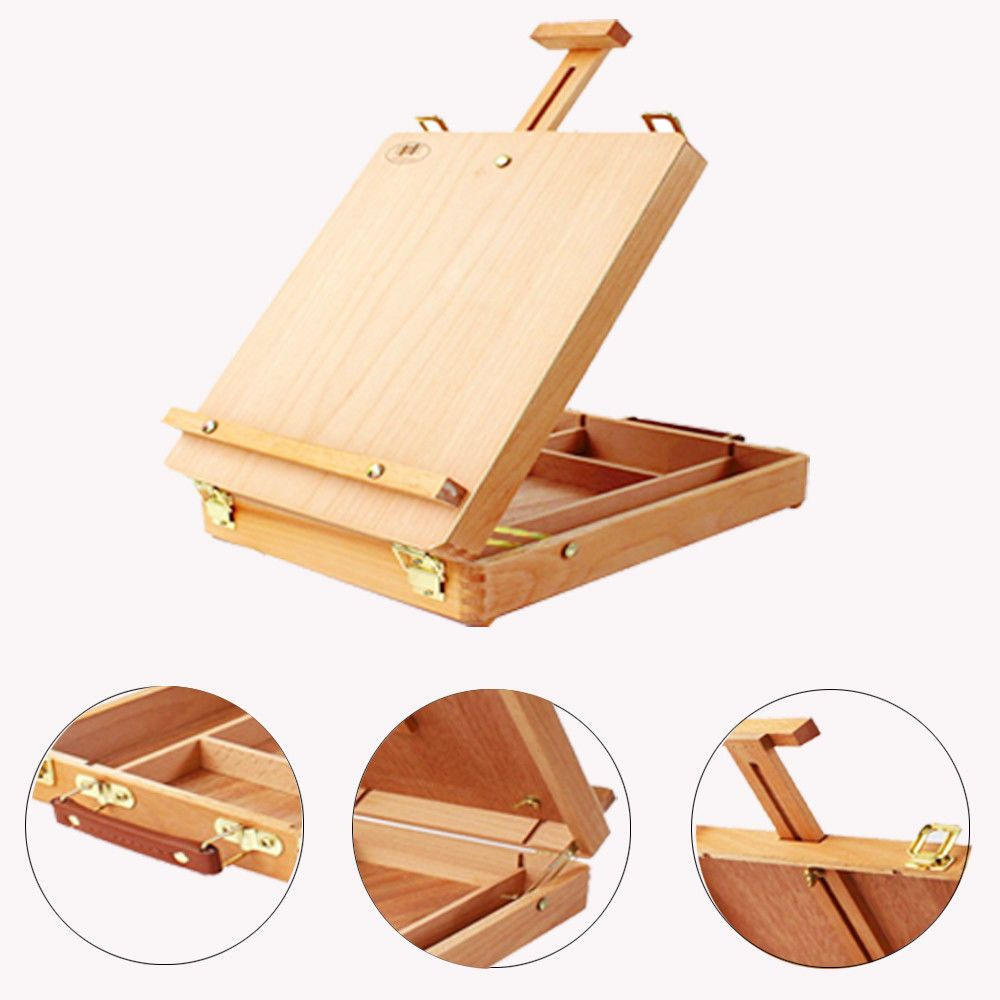 New Portable Artist Wood Table Top Painting Easel Drawer Sketch Desk Art Drawing