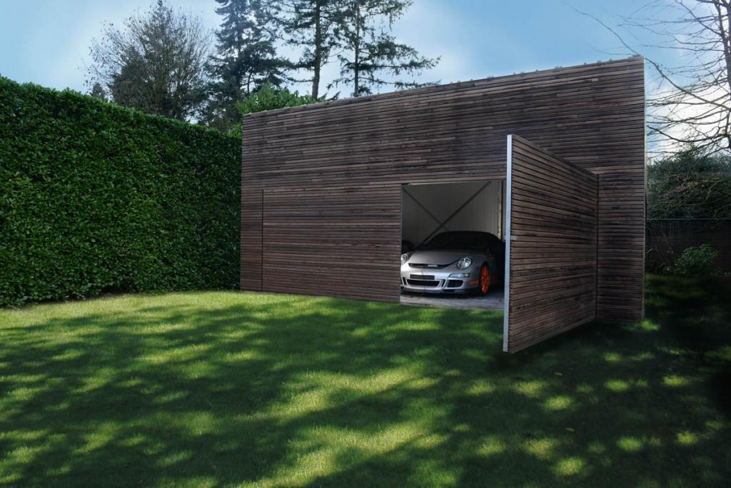 Moderne carports in hout livinlodge pure carport pinterest