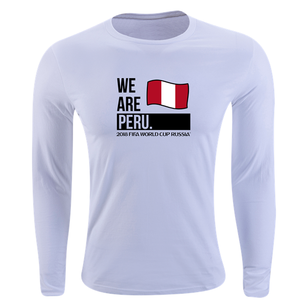 82cf2a9f1 Peru 2018 FIFA World Cup Russia™ Official Look Long Sleeve Supersoft T-Shirt  (White)
