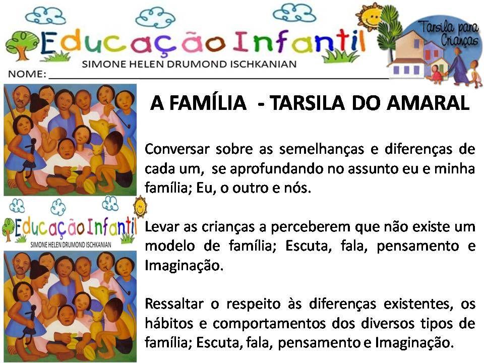 Atividades Escolares Tarsila Do Amaral Para Criancas N Com