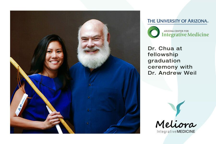 Doctor Chua with Doctor Andrew Weil at Intergrative Medicine