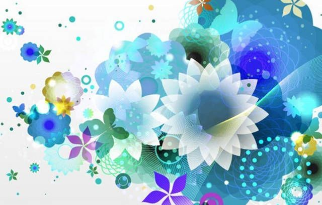 Blue-Flower-Vector-Background Creativity and Inspiration - blue flower backgrounds