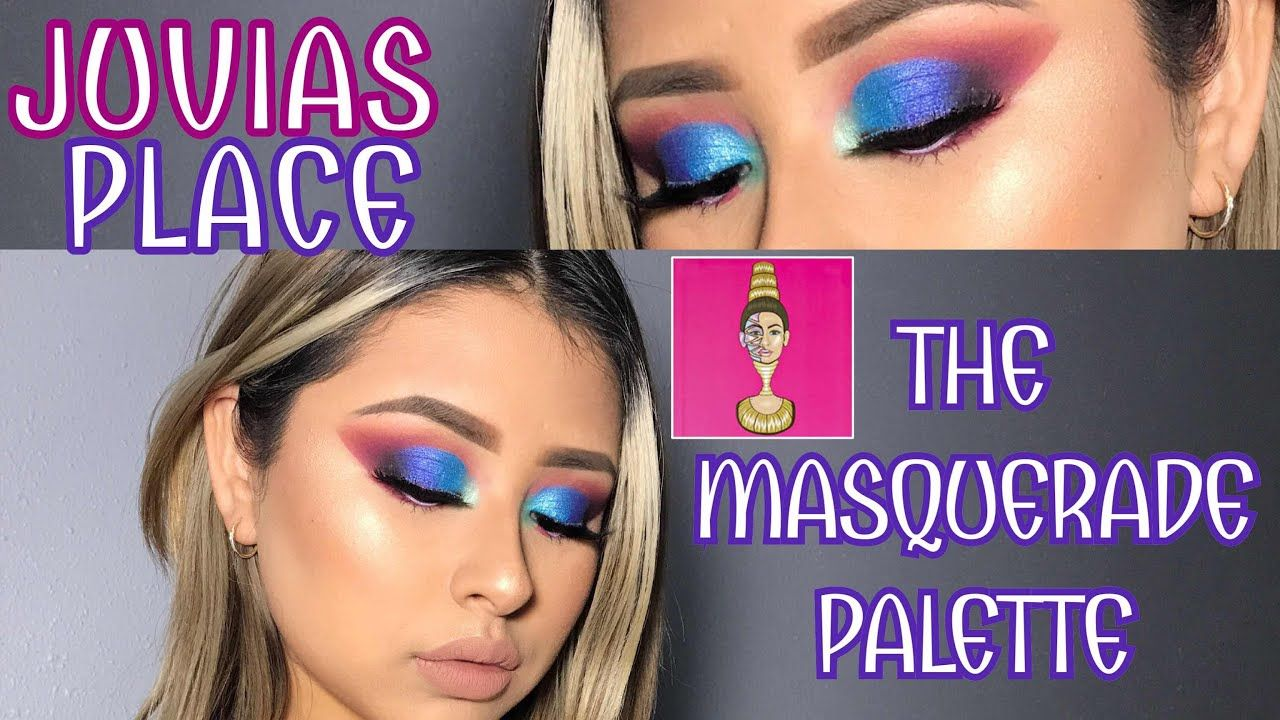 JUVIAS PLACE THE MASQUERADE PALETTE. COLORFUL EYE LOOK