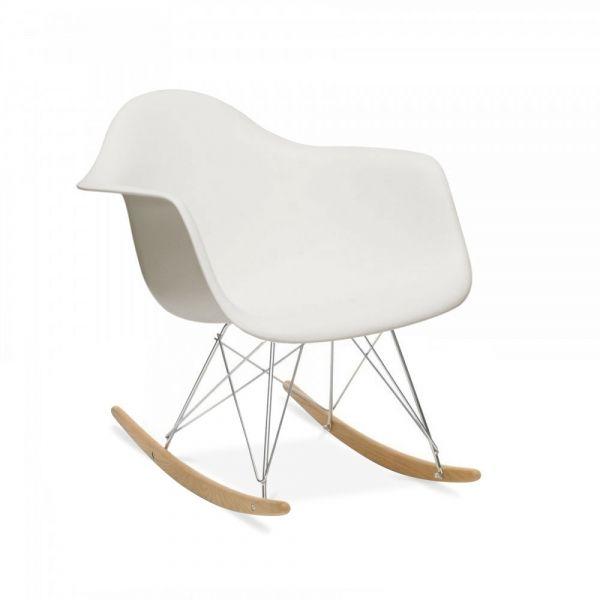 Flair Chaise A Bascule Rar Rocking Chair Creation De 1948 Blanc Casse Chaise A Bascule Chaise A Bascule Eames Rocking Chair