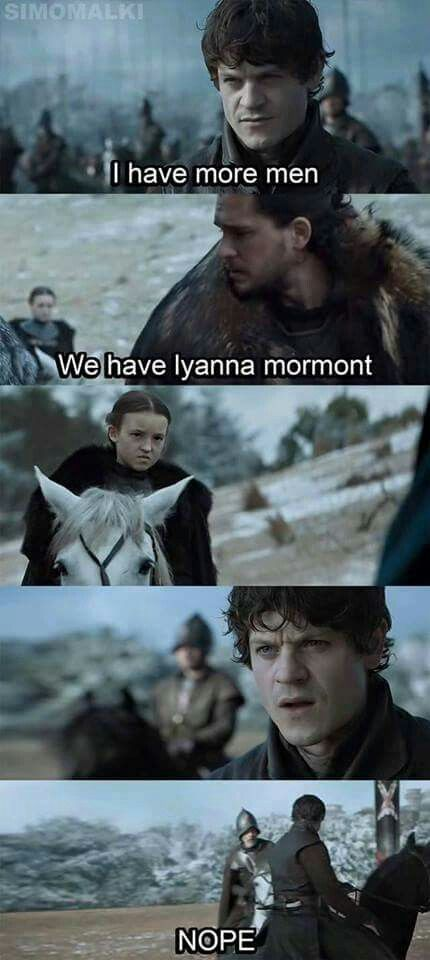 Lyanna should be feared more than the Night King himself #gameofthrones