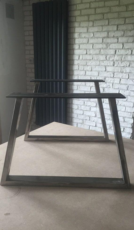 Pieds De Table Basse En Tube De Forme Trapeze Hauteur Par Metalbrut
