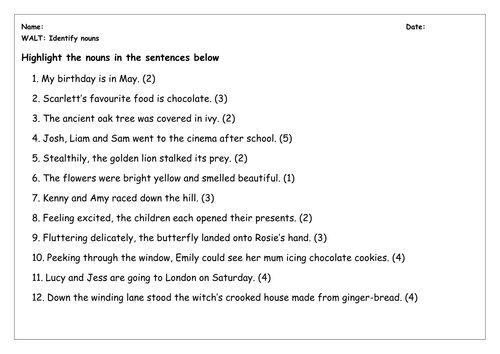 Finding Nouns in a Sentence Worksheet   Turtle Diary likewise Nouns Worksheets   Proper and  mon Nouns Worksheets further Recognizing Nouns Worksheets further SPaG Worksheet  Identify Nouns   Primary  National Tests UK also Worksheet works identifying nouns   Download them and try to solve additionally Identifying Nouns KS1 SPAG Test Practice   Clroom Secrets besides Identifying Nouns Verbs And Adjectives In Sentences Worksheets likewise worksheet  Identify Nouns In A Sentence Worksheets as well Nouns Pronouns Activities 4 Lessons Color Game Worksheets additionally Noun Worksheets likewise  also  moreover Quiz   Worksheet   Concrete Nouns   Study moreover KateHo » Worksheets On Identifying Nouns Verbs Adjectives And also Find Noun In Sentence   Livinghealthybulletin together with . on identify nouns in sentences worksheet