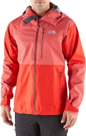 0c29f627 The North Face Men's Summit L5 FuseForm GTX C-Knit Jacket Fiery Red/High  Rise Grey Fuse XL