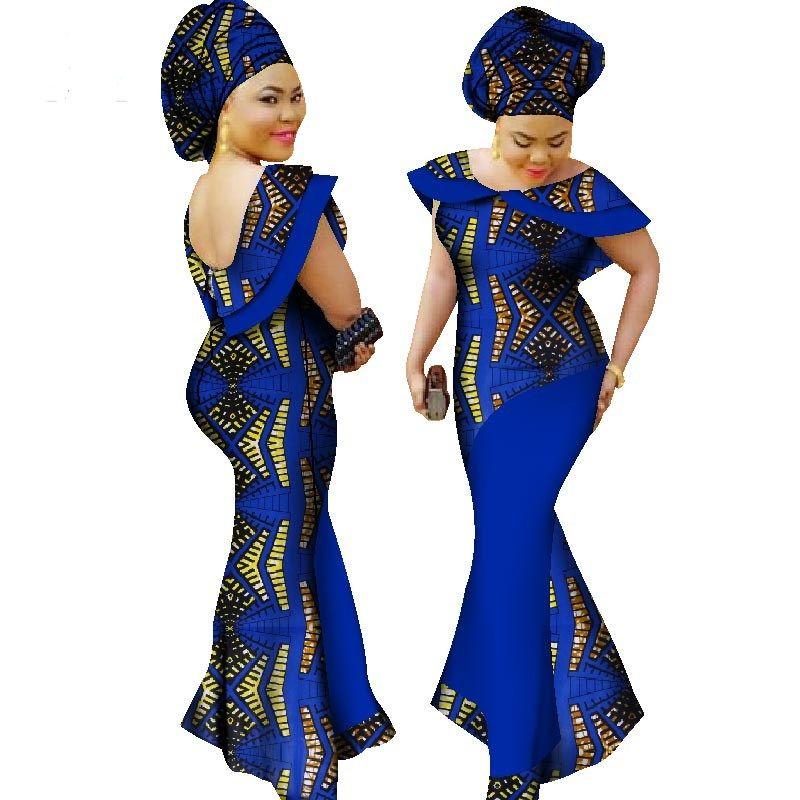 87e9e706ef Women traditional African fashion Clothing Wax Ankara long cotton ...