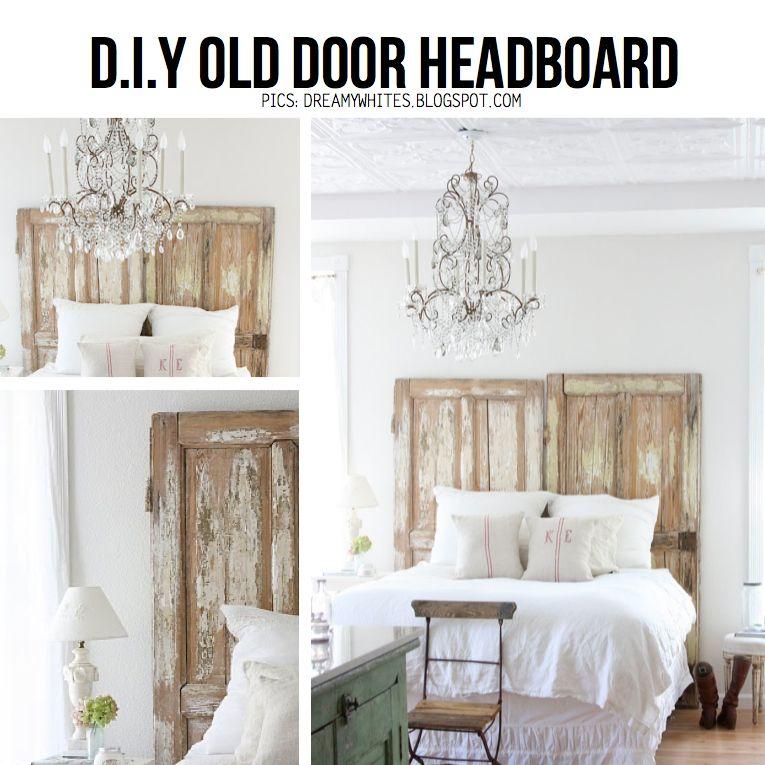 Diy Old Door Headboard Do This For Guest Bedroom