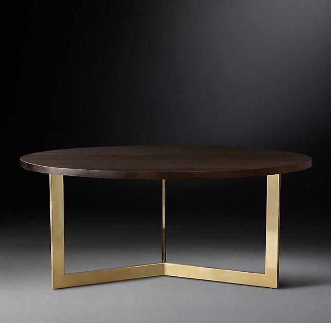 Linear Round Brass Legs Dining Table Brass Dining Table Round
