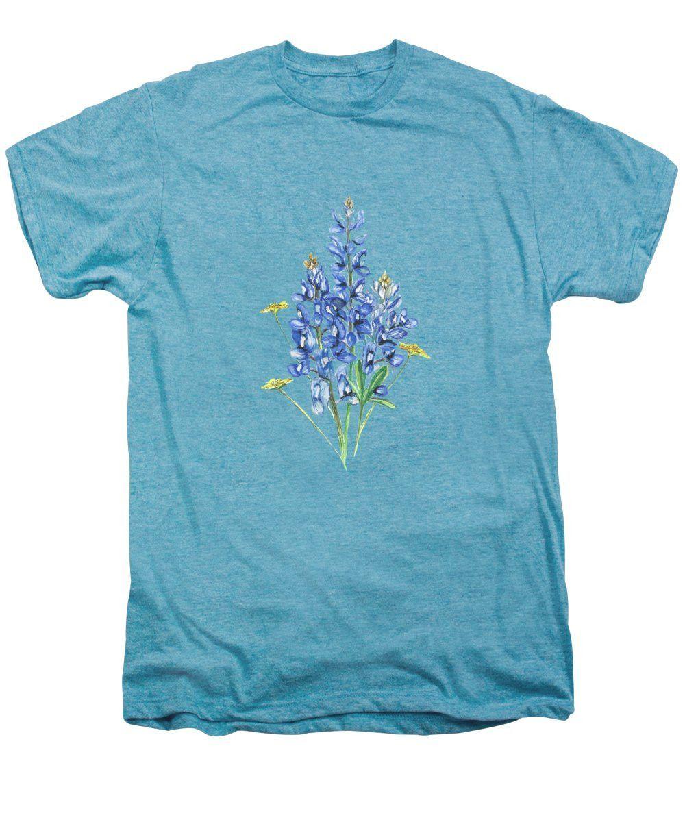 Bluebonnets And Wildflowers - Men's Premium T-Shirt