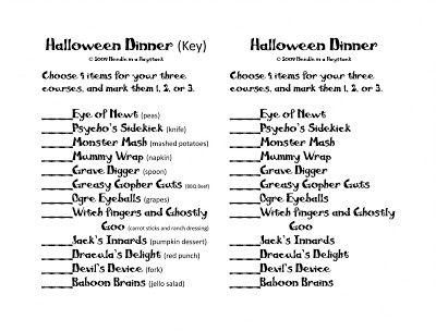 mystery dinner menus the crazy halloween dinner tradition