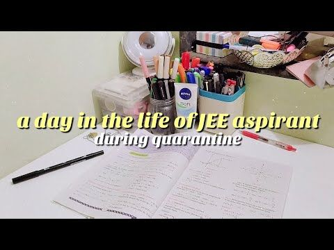 a day in the life of JEE aspirant | online lectures + tests | 10hrs of studying 😥 \ quarantined ver. - YouTube