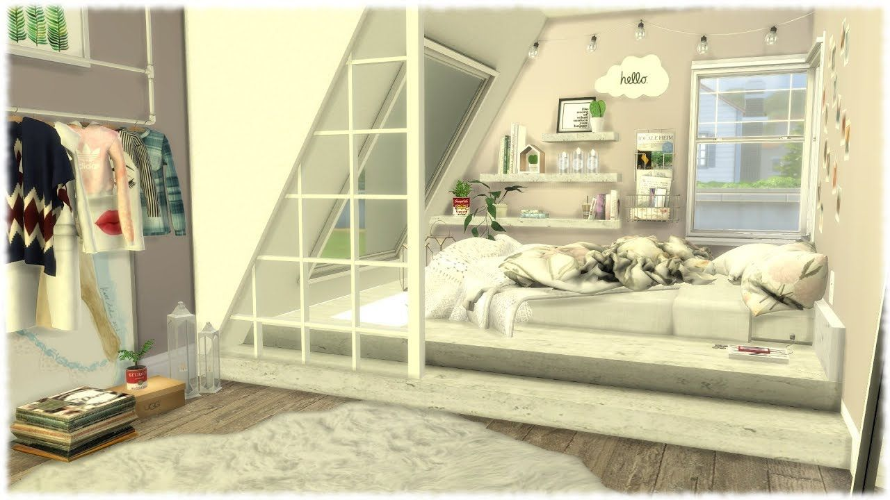 The Sims 4 Speed Build // TUMBLR BEDROOM + CC Links