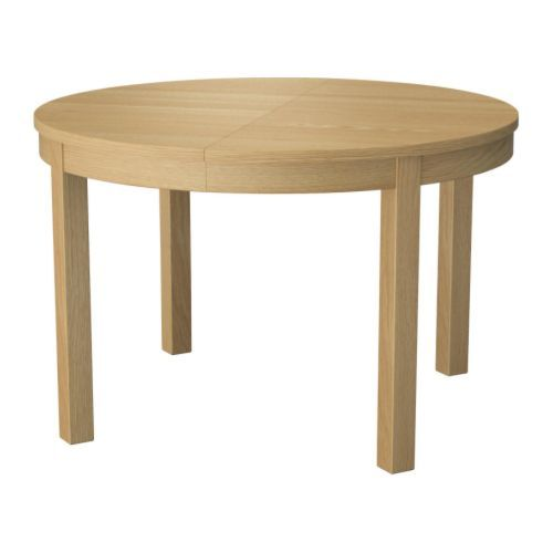 BJURSTA Extendable table Oak veneer 115/166 cm