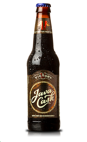 """Java Cask """"A complex fusion of dark chocolate, roasted barley and vanilla is rounded out by robust coffee and a warming heat in this unique, barrel aged stout."""" Victory Brewing Co, Downingtown PA (12oz 14.3%) Jan 2018"""