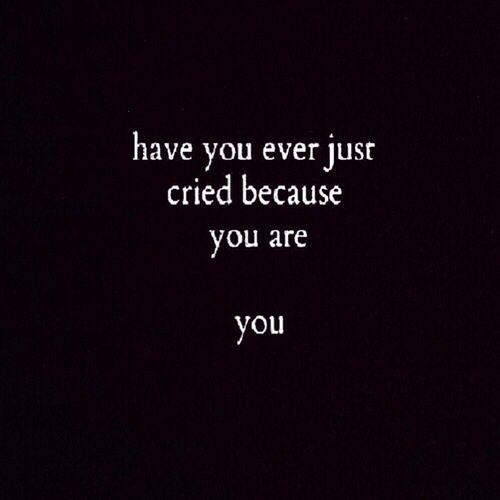 Black Crie Cries Depressed Emo Grunge Pale Sad Sadness