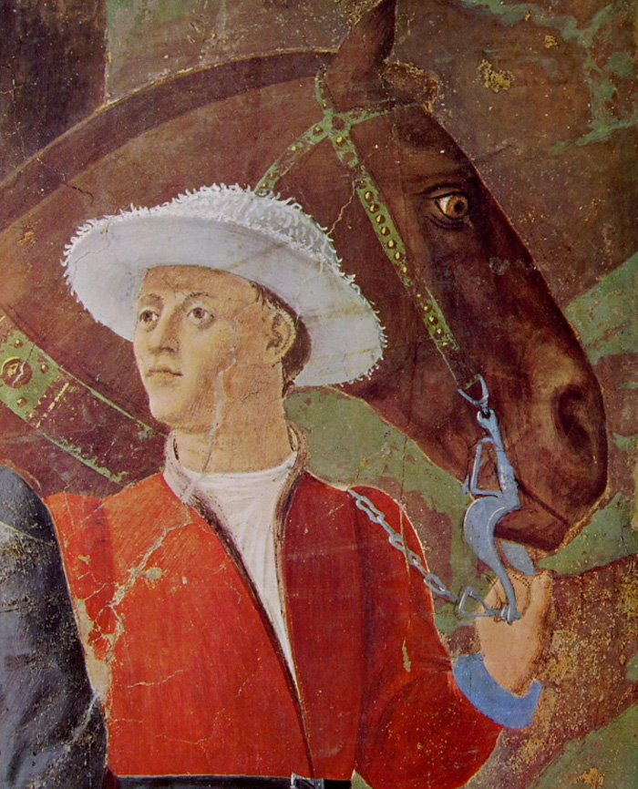 c.1452.Adoration of the Holy Wood. detail. Piero della ...