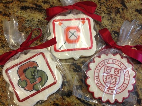 Graduation Celebration on to Cornell University - Crew - See more of our cookies at http://www.ctcookietreats.com