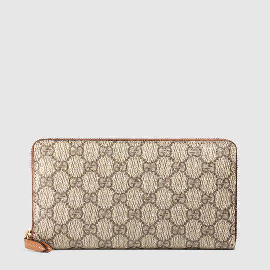e858ca0a232 GG Supreme zip around wallet in 2019