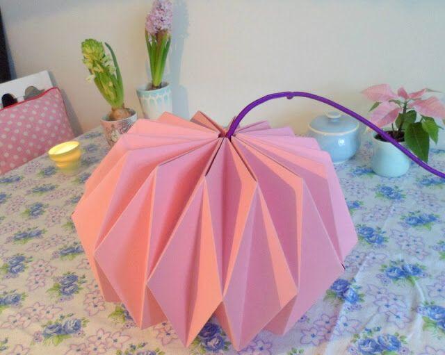Diy origamilampe